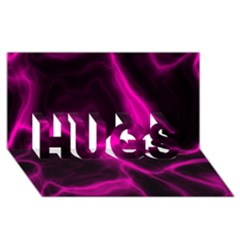 Cosmic Energy Pink Hugs 3d Greeting Card (8x4)