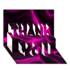 Cosmic Energy Pink Thank You 3d Greeting Card (7x5)