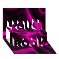 Cosmic Energy Pink You Rock 3d Greeting Card (7x5)