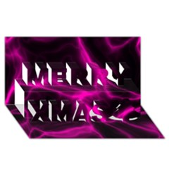 Cosmic Energy Pink Merry Xmas 3D Greeting Card (8x4)