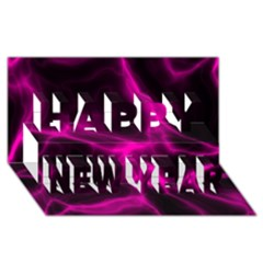 Cosmic Energy Pink Happy New Year 3D Greeting Card (8x4)