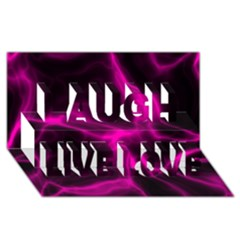 Cosmic Energy Pink Laugh Live Love 3D Greeting Card (8x4)