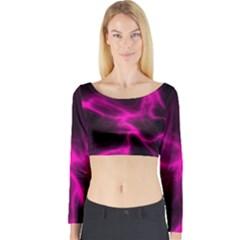 Cosmic Energy Pink Long Sleeve Crop Top
