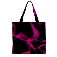 Cosmic Energy Pink Zipper Grocery Tote Bags