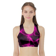 Cosmic Energy Pink Women s Sports Bra with Border