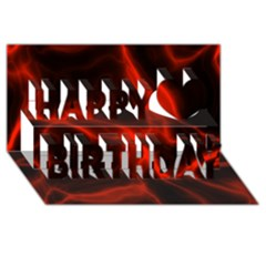 Cosmic Energy Red Happy Birthday 3D Greeting Card (8x4)