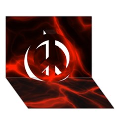 Cosmic Energy Red Peace Sign 3d Greeting Card (7x5)