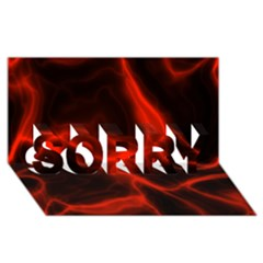 Cosmic Energy Red Sorry 3d Greeting Card (8x4)