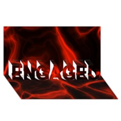 Cosmic Energy Red ENGAGED 3D Greeting Card (8x4)