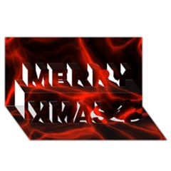 Cosmic Energy Red Merry Xmas 3D Greeting Card (8x4)
