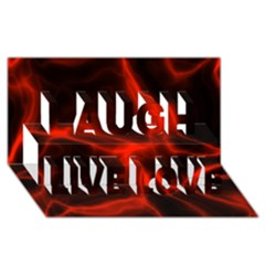 Cosmic Energy Red Laugh Live Love 3d Greeting Card (8x4)