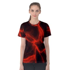 Cosmic Energy Red Women s Cotton Tees