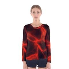 Cosmic Energy Red Women s Long Sleeve T Shirts