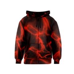 Cosmic Energy Red Kids Zipper Hoodies