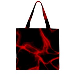 Cosmic Energy Red Zipper Grocery Tote Bags