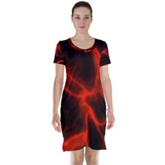 Cosmic Energy Red Short Sleeve Nightdresses