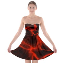 Cosmic Energy Red Strapless Bra Top Dress