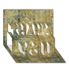 Beautiful  Decorative Vintage Design THANK YOU 3D Greeting Card (7x5)