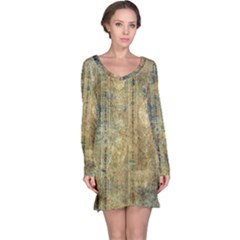 Beautiful  Decorative Vintage Design Long Sleeve Nightdresses
