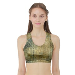 Beautiful  Decorative Vintage Design Women s Sports Bra with Border