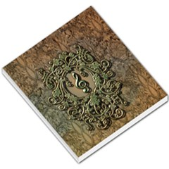 Elegant Clef With Floral Elements On A Background With Damasks Small Memo Pads