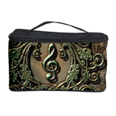 Elegant Clef With Floral Elements On A Background With Damasks Cosmetic Storage Cases