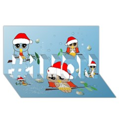 Funny, Cute Christmas Owls With Snowflakes #1 MOM 3D Greeting Cards (8x4)