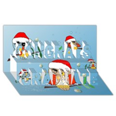 Funny, Cute Christmas Owls With Snowflakes Congrats Graduate 3d Greeting Card (8x4)