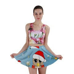 Funny, Cute Christmas Owls With Snowflakes Mini Skirts