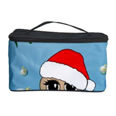 Funny, Cute Christmas Owls With Snowflakes Cosmetic Storage Cases