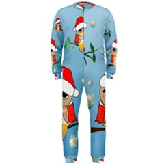 Funny, Cute Christmas Owls With Snowflakes OnePiece Jumpsuit (Men)