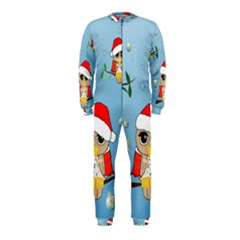 Funny, Cute Christmas Owls With Snowflakes OnePiece Jumpsuit (Kids)