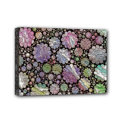 Sweet Allover 3d Flowers Mini Canvas 7  x 5