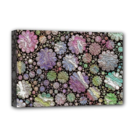 Sweet Allover 3d Flowers Deluxe Canvas 18  X 12