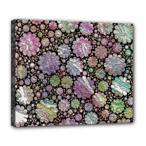 Sweet Allover 3d Flowers Deluxe Canvas 24  x 20