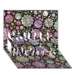 Sweet Allover 3d Flowers YOU ARE INVITED 3D Greeting Card (7x5)