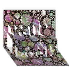 Sweet Allover 3d Flowers You Rock 3D Greeting Card (7x5)