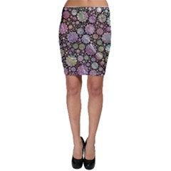 Sweet Allover 3d Flowers Bodycon Skirts