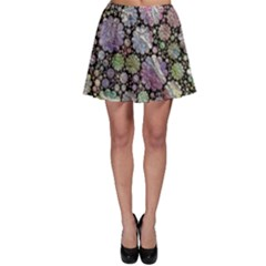 Sweet Allover 3d Flowers Skater Skirts