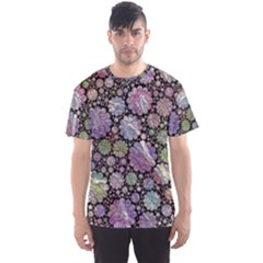 Sweet Allover 3d Flowers Men s Sport Mesh Tees