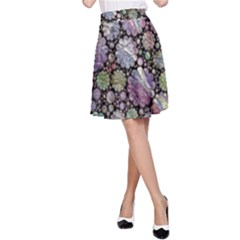 Sweet Allover 3d Flowers A Line Skirts