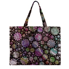 Sweet Allover 3d Flowers Zipper Tiny Tote Bags