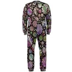Sweet Allover 3d Flowers OnePiece Jumpsuit (Men)
