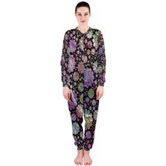 Sweet Allover 3d Flowers OnePiece Jumpsuit (Ladies)