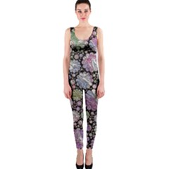 Sweet Allover 3d Flowers OnePiece Catsuits