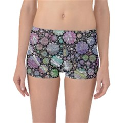 Sweet Allover 3d Flowers Boyleg Bikini Bottoms