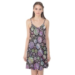 Sweet Allover 3d Flowers Camis Nightgown