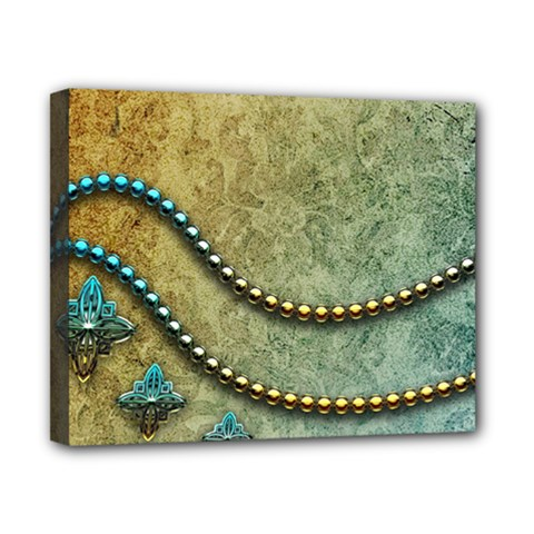 Elegant Vintage With Pearl Necklace Canvas 10  x 8