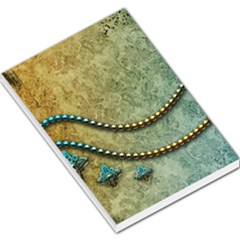 Elegant Vintage With Pearl Necklace Large Memo Pads