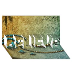 Elegant Vintage With Pearl Necklace Believe 3d Greeting Card (8x4)